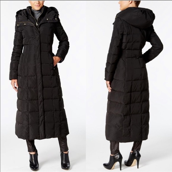 Cole Haan Puffer Trench Down Filled Hooded Small